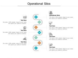 Operational Silos Ppt Powerpoint Presentation Portfolio Influencers Cpb