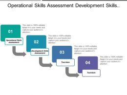 Operational Skills Assessment Development Skills Assessment Shared Data Meanings