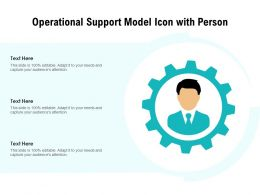 Operational Support Model Icon With Person
