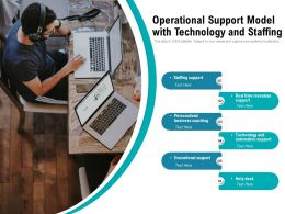 Operational Support Model With Technology And Staffing