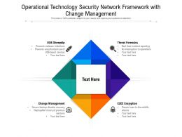 Operational Technology Security Network Framework With Change Management