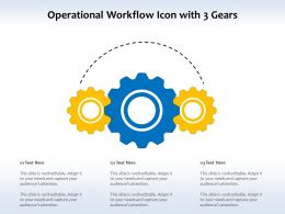 Operational Workflow Icon With 3 Gears