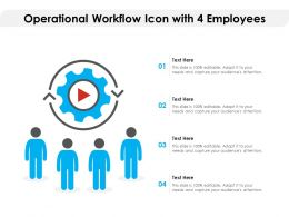 Operational Workflow Icon With 4 Employees