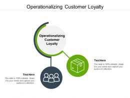 Operationalizing Customer Loyalty Ppt Powerpoint Presentation Infographic Template Cpb