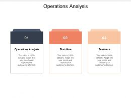Operations Analysis Ppt Powerpoint Presentation Ideas Tips Cpb