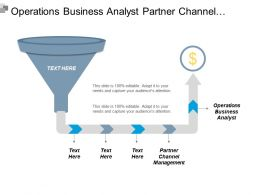 Operations Business Analyst Partner Channel Management Strategic Plan Cpb