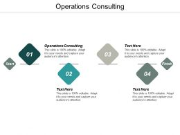 Operations Consulting Ppt Powerpoint Presentation Infographic Template Example Cpb