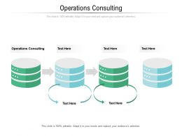 Operations Consulting Ppt Powerpoint Presentation Infographics Graphic Images Cpb