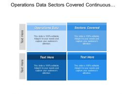 Operations Data Sectors Covered Continuous Design Evolution Scope Study