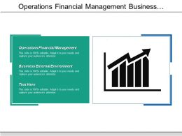 operations financial management business external environment measures inflation cpb