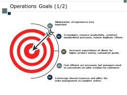Operations Goals Management Ppt Powerpoint Presentation Layouts Background Designs