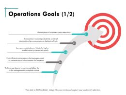 Operations Goals Ppt Powerpoint Presentation Summary Designs Download
