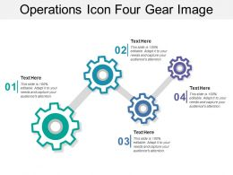 Operations Icon Four Gear Image