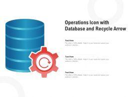 Operations Icon With Database And Recycle Arrow