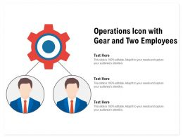 Operations Icon With Gear And Two Employees