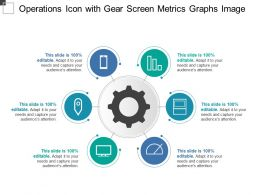 Operations Icon With Gear Screen Metrics Graphs Image