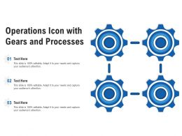 Operations Icon With Gears And Processes