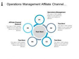 Operations Management Affiliate Channel Network Enterprise Practice Management Cpb