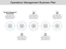 Operations Management Business Plan Ppt Powerpoint Presentation Infographic Example Cpb