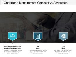Operations Management Competitive Advantage Ppt Powerpoint Presentation Gallery Structure Cpb