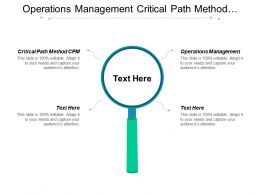 Operations Management Critical Path Method Cpm Internet Marketing Strategy Cpb