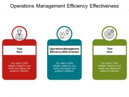 Operations Management Efficiency Effectiveness Ppt Powerpoint Presentation Portfolio Cpb