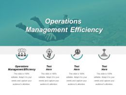 Operations Management Efficiency Ppt Powerpoint Presentation File Gallery Cpb