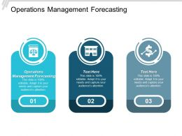 Operations Management Forecasting Ppt Powerpoint Presentation Summary Cpb