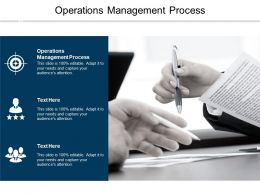 Operations Management Process Ppt Powerpoint Presentation Styles Graphic Tips Cpb