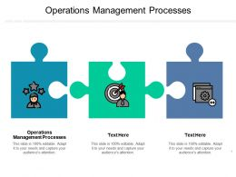 Operations Management Processes Ppt Powerpoint Presentation Ideas Graphics Pictures Cpb