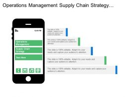 Operations Management Supply Chain Strategy Supply Chain Planning