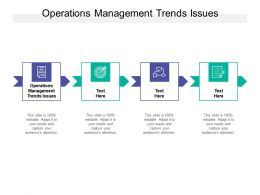 Operations Management Trends Issues Ppt Powerpoint Presentation Aids Cpb