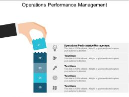 Operations Performance Management Ppt Powerpoint Presentation Summary Infographics Cpb