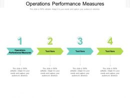 Operations Performance Measures Ppt Powerpoint Presentation Portfolio Infographics Cpb