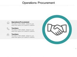Operations Procurement Ppt Powerpoint Presentation Layouts Clipart Images Cpb