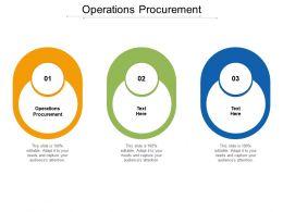 Operations Procurement Ppt Powerpoint Presentation Slides Graphics Tutorials Cpb
