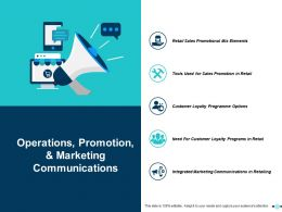 Operations Promotion And Marketing Communications Ppt Slides Background Images