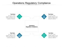 Operations Regulatory Compliance Ppt Powerpoint Presentation Professional Cpb