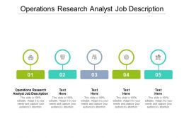 Operations Research Analyst Job Description Ppt Powerpoint Presentation Inspiration Gallery Cpb