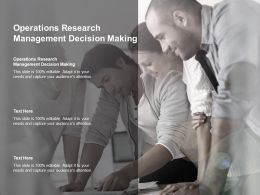 Operations Research Management Decision Making Ppt Powerpoint Presentation Professional Cpb
