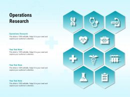 Operations Research Ppt Powerpoint Presentation Pictures Grid