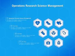 Operations Research Science Management Ppt Powerpoint Presentation Infographics