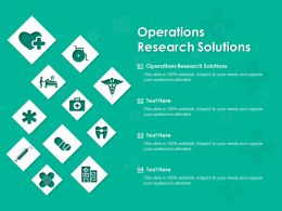 Operations Research Solutions Ppt Powerpoint Presentation Professional Example