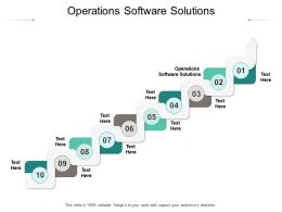 Operations Software Solutions Ppt Powerpoint Presentation Layouts Graphics Design Cpb