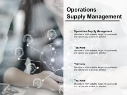 Operations Supply Management Ppt Powerpoint Presentation Styles Maker Cpb