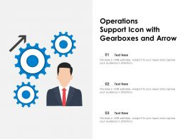 Operations Support Icon With Gearboxes And Arrow