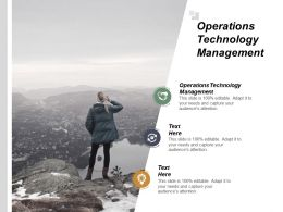 Operations Technology Management Ppt Powerpoint Presentation File Example Introduction Cpb