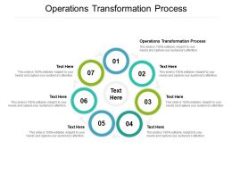 Operations Transformation Process Ppt Powerpoint Presentation Gallery Deck