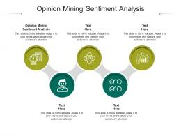 Opinion Mining Sentiment Analysis Ppt Powerpoint Presentation Ideas Visual Aids Cpb
