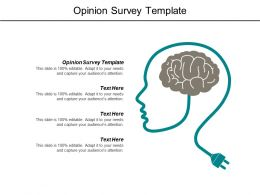 Opinion Survey Template Ppt Powerpoint Presentation File Shapes Cpb